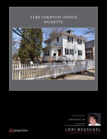 1142 OAKWOOD AVENUE WILMETTE - Properties