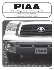 piaa limited warranty - Tire Rack
