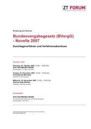 Bundesvergabegesetz (BVergG) - Novelle 2007