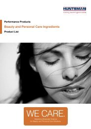 Beauty and Personal Care Ingredients