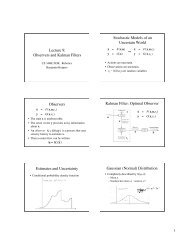 Observers and Kalman Filters Stochastic Models of an Uncertain ...