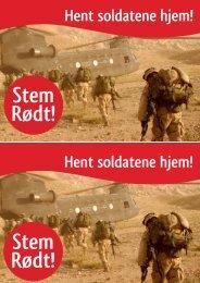 Hent soldatene hjem!