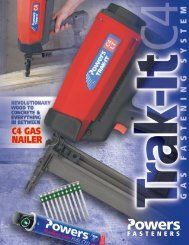 Trak-It® C4 Gas Fastening System Performance Data - Powers Hellas