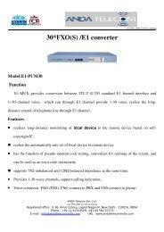 30*FXO(S) /E1 converter - ANDA TELECOM INDIA