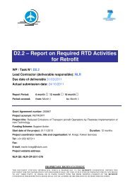D2.2 – Report on Required RTD Activities for Retrofit - Fokker Services