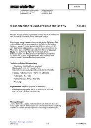 WASSERZERSETZUNGSAPPARAT MIT STATIV PA3489
