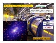 Models of new physics for dark matter - PPC 2010