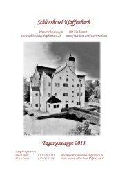 Schlosshotel Klaffenbach Tagungsmappe 2013