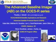 The Advanced Baseline Imager (ABI) on the GOES-R series