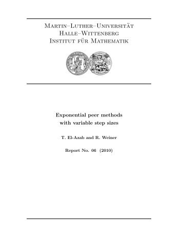 Exponential peer methods with variable step sizes - Martin-Luther ...