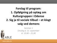 Sig ja til sociale tilbud - Able - Annette Johannesen