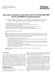 Solar type II and type IV radio bursts observed during the Solar ...