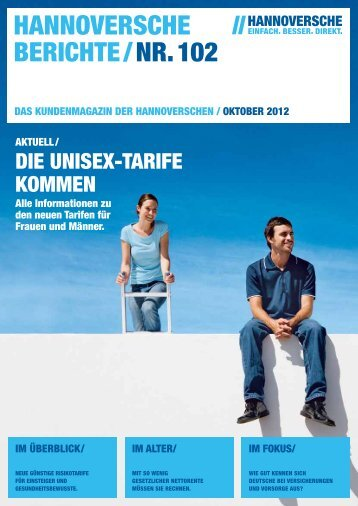 Hannoversche Berichte Nr. 102 Ausgabe Oktober 2012 (PDF 3.8 MB)