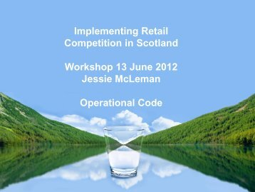 Operational Code - Water Industry Commission for Scotland