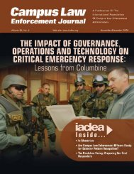 November/December 2006 Campus Law Enforcement ... - IACLEA