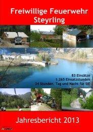 Jahresbericht 2013 - Freiwillige Feuerwehr Steyrling