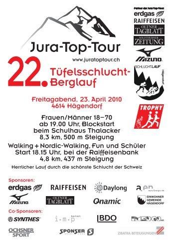 Tüfelsschlucht- Berglauf - Jura-Top-Tour