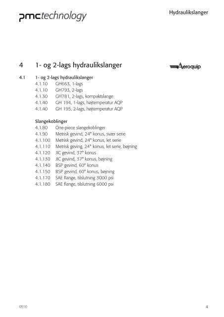 4 1- og 2-lags hydraulikslanger - PMC Group