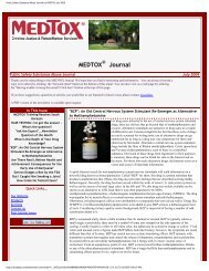 Public Safety Substance Abuse Journal by MEDTOX July 2009
