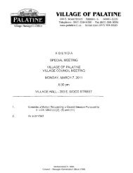 Accounts Payable Invoice Report - Village of Palatine