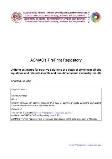 Download (1075Kb) - ACMAC's PrePrint Repository