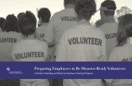 Preparing Employees to Be Disaster-Ready Volunteers - College of ...
