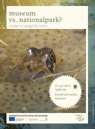 museum vs. nationalpark? - Nationalparks Austria