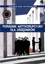 Poradnik antykorupcyjny dla urzędników - Centralne Biuro ...