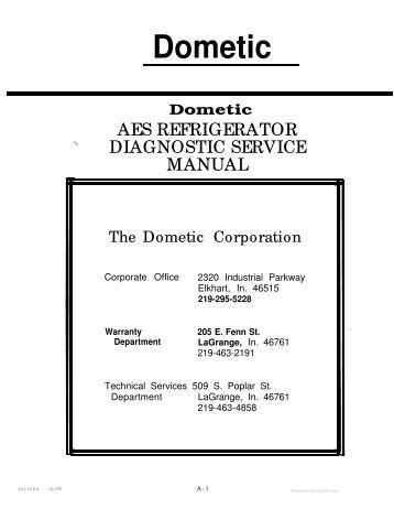 Dometic 9100 service Manual