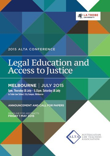 Call for Abstracts ALTA 2015