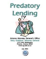 Predatory Lenders Book - Arizona Attorney General