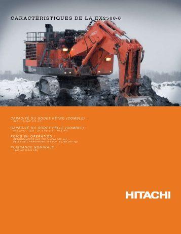 CARACTÉRISTIQUES DE LA EX2500-6 - Hitachi