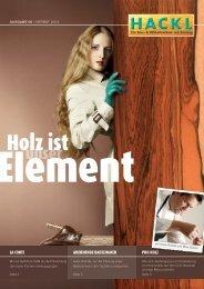 Aktuelles Kundenmagazin - Tischlerei Hackl Steyr