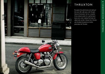 Accessories for your Triumph Thruxton