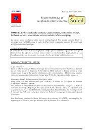 Solaire thermique et eau chaude solaire collective - Ademe Ile de ...