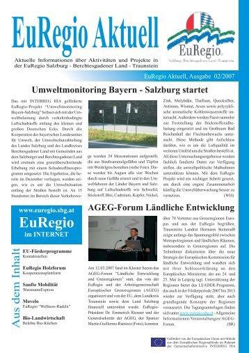 Ausgabe 02/2007 - EuRegio - Salzburg - Berchtesgadener Land