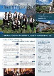 Natur, Tradition, Erholung und Festzeltstimmung im Herzen Südtirols