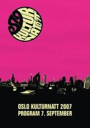 Program - Oslo kulturnatt 2007