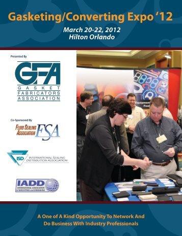 Gasketing/Converting Expo'12 - Gasket Fabricators Association