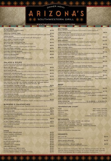 AZ Lunch Menu - Arizona's