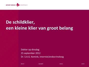 De schildklier, een kleine klier van groot belang - Jeroen Bosch ...