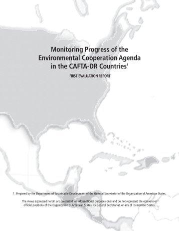 Report - Programa de Cooperación Ambiental del DR-CAFTA