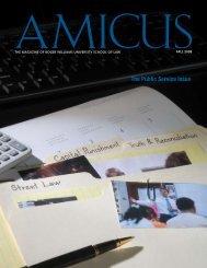 AMICUS Vol.7, No.2 (Fall 2008) - Roger Williams University School ...