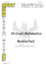 S4 Revision Pack - All Saints Secondary School