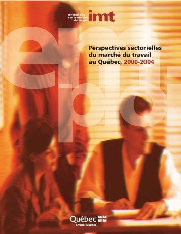 Perspectives sectorielles du marché du travail au ... - Bibliothèque