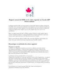 Points saillants du rapport de 2007 - Service canadien de ...