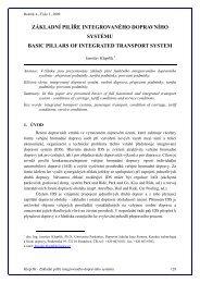 Základní pilíře integrovaného dopravního systému - Univerzita ...