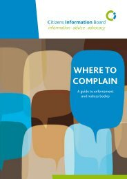 Where to Complain 2009 (pdf) - Citizens Information Board