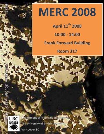 April 11 2008 - Materials Engineering - University of British Columbia