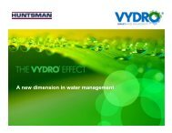 A new dimension in water management